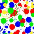 图库矢量图片: Seamless colored background with multi-colored blots