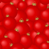 Sömlös bakgrund av julgran bollar — Stockvektor