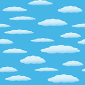 Seamless pattern with clouds 2 — Stock Vector