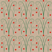 Simple seamless floral pattern — Vettoriale Stock