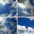 Set of backgrounds with blue sky and clouds 2 — Stock Photo