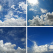 Stok fotoğraf: Set of backgrounds with blue sky and clouds