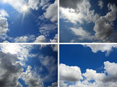 Set of backgrounds with blue sky and clouds 2 — ストック写真