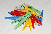 Multi-colored clothespins — Stock fotografie