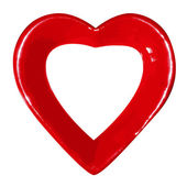 Heart on white background — Vettoriale Stock