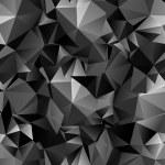 Seamless polygonal dark background — Stock Vector