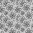 Seamless monochrome background of flowers — Imagen vectorial