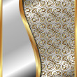 Vecteur: Gold frame with pattern 4