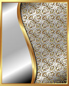 Gold frame with pattern 4 — Vector de stock