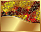 Gold frame with pattern 3 — Vector de stock