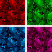 A set of polygonal backgrounds 3 — Stock vektor