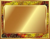 Delicate gold frame with pattern 2 — Vettoriale Stock