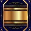 Vector de stock : Gold frame with pattern 13