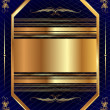 Vecteur: Gold frame with pattern 13