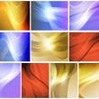 Set of abstract wavy backgrounds — Vector de stock #39030073