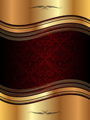 Golden wavy background — Vector de stock