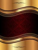 Golden wavy background — Vector de stock