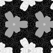 Seamless monochrome pattern 2 — Vector de stock #40998271