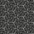 Seamless monochrome pattern 4 — Vector de stock #40998409