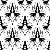 Seamless monochrome pattern 11 — Stock Vector