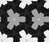 Seamless monochrome pattern 2 — Stock Vector