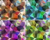 Set of abstract backgrounds polygonal — Stock Vector