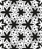Seamless monochrome pattern  — ストックベクタ