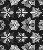 Seamless monochrome pattern 4 — Cтоковый вектор