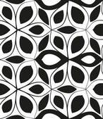 Seamless monochrome pattern 6 — Vector de stock
