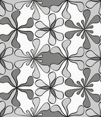 Seamless monochrome pattern — Vettoriale Stock
