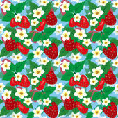 Seamless pattern with strawberries peloy — Stock Vector