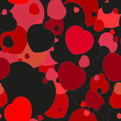 Seamless festive background with hearts — Stock Vector