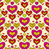 Abstract holiday seamless pattern with hearts 3 — 图库矢量图片
