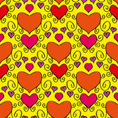 Abstract holiday seamless pattern with hearts — Stockvektor