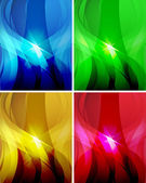 Set of abstract wavy backgrounds 2 — Stock Vector