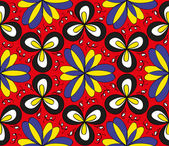 Seamless colorful floral pattern — Stock Vector