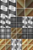 Set of metal texture — Stock Vector
