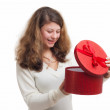 Woman with gift — Stock Photo #16306395