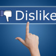 Pressing dislike button — Stock Photo #22503303