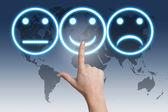 Smiling button — Stock Photo