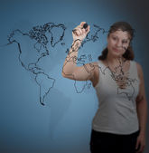 Welt zeichnung — Stockfoto