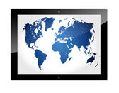Tablet World Map — Stock Photo