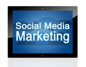 Tablet social Marketing — Stock Photo