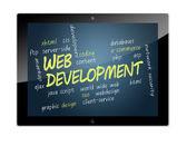 Tablet Web Development — Stock Photo
