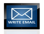 Tablet Write Email — Stock Photo