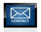 Tablet Contact — Stock Photo