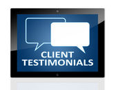 Tablet Client Testimonials — Stock Photo