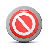 Access denied icon — Stock Photo