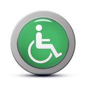 ícone de deficiente — Fotografia Stock