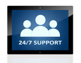 Tablet 24-7 Support — Stock Photo
